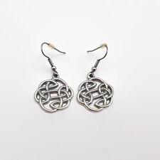 Celtic Knot Silver Tone Earrings