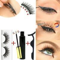 Magnetischer flüssiger Eyeliner Falsche Wimpern Pinzetten Set Wimpern Wasserdich