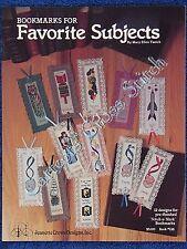Cross Stitch Pattern Bookmarks Favourite Subjects 12