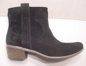 Women's Ankle Boot Black Lucky Brand Short Pull On Suede Sz 7.5 -10 NEW $100