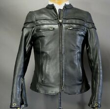 IK Leathers Moto X RYDA Motorbike Motorcycle Racing Jacket Small 36 Black