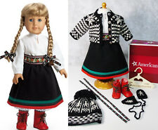 American Girl Pleasant Company KIRSTEN WINTER OUTFIT Woolens Sweater Boots BOX +