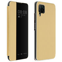 Clear View Folio Case for Huawei P40 lite Translucent View Window Standby- gold