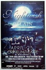 Nightwish / Delain 2015 Vancouver Concert Tour Poster - Symphonic Metal Music