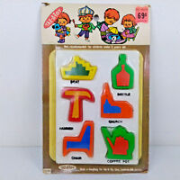 Vtg NOS 1970s Tak-A-Toy System Plastic Play Set 010B Shapes Objects Boat Church