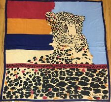 "CHRISTIAN DIOR baby TIGER Safari 100% SILK Scarf Made in FRANCE 30"" X 30.5"""