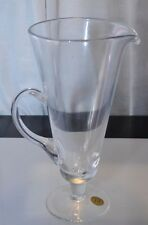 BLOCK CRYSTAL FOOTED PITCHER