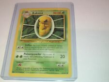 Pokemon Kakuna Base Card original 33/102 - Toploader protected