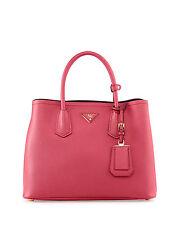 NEW Prada Saffiano Cuir Small Tote Shoulder Bag Handbag BN2775 Peonia