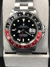 Rolex GMT Master II 16710 Coke Bezel Black & Red Stainless Steel Mens Watch