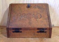 Vintage Handmade Primitive Distressed Wood Bread Box Farmhouse Kitchen