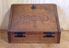 Vintage Handmade Primitive Distressed Wood Bread Box Farmhouse Kitchen