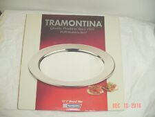 """Tramontina 18/10 Stainless Steel 12 1/4"""" Round Mat serving tray- NEW"""