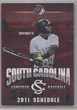 2011 University of South Carolina Baseball Pocket Schedule, Jackie Bradley Jr.