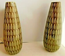 """Crate & Barrel 2 Tally Vases Measure 12"""" Tall Made Thailand New"""