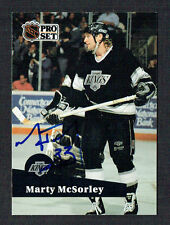 Marty McSorley #100 signed autograph auto 1991-92 Pro Set Hockey Trading Card