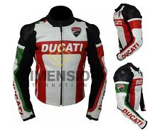Ducati Motorbike Jacket Motorcycle Real Leather Jackest Team Racing CE Armoured