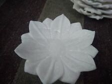 10 Lotus White Marble Plate Handmade Carving Design Fruit Tray Dish Decorative