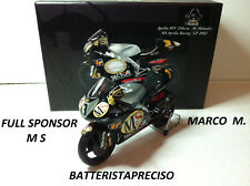 MINICHAMPS MARCO MELANDRI 1/12 APRILIA 250 WORLD CHAMPION 2002 M S FULL SPONSOR