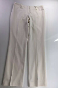 NWT $98 Ann Taylor Modern Fit Straight Leg White Lined Dress Pants Size 10