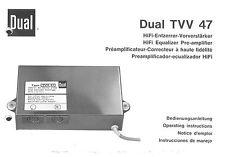 Dual Bedienungsanleitung für TVV 47