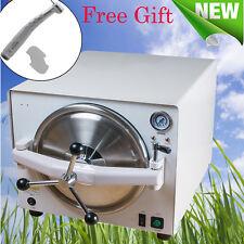 18L 900W Dental Medical Lab Autoclave Steam Sterilizer+High Handpiece-5Day to US
