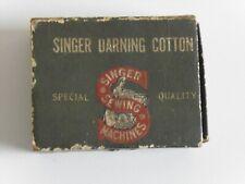 Vintage Singer Darning Cotton Six Wooden rolls Unused Bargain