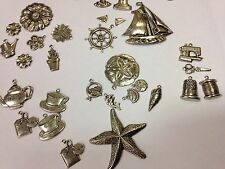 Metallic embellishments charms crafts card making ALL THEMES decorative 3D metal