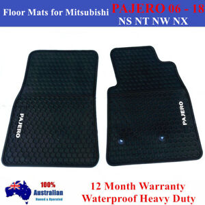 Heavy duty 2 Front Floor Mats for Mitsubishi PAJERO NS NT NW NX 2006 - 2018