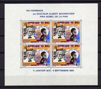 10476) MALI 1965 Scott # C324     Mini Sheet  MNH** A. Sweitzer