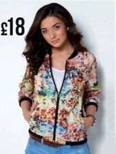 Women Designer Adore Floral Vintage Bomber Biker Jacket Top Size 14 New