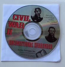 Civil War II 2 Unconditional Surrender PC CD-ROM Computer Game Windows 98/XP