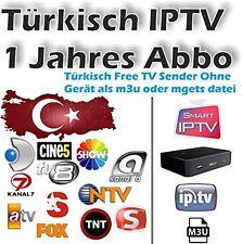 Türkisch IPTV FREE TV Kanäle und FREE türk. Filme - 1 Jahres Abo (OHNE GERÄT)