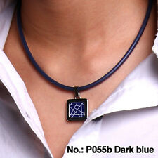 P055B Pendant with Necklace Blue  (Type B )