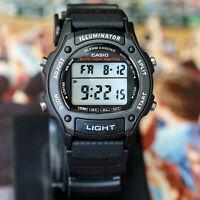 Casio W-93H-1A Mens Black 50M WR Watch LED Light Alarm Multi Function New