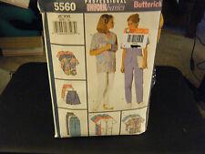 Butterick 5560 Misses Scrub Dress, Skort Pants & Top Pattern - Size XL-XXL