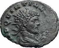 QUINTILLUS Authentic Ancient 270AD Genuine Roman Coin w DIANA LUCIFERA i79425