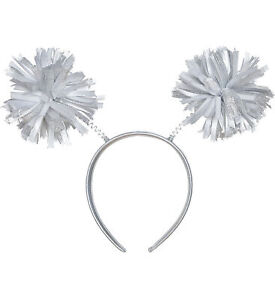 Amscan Amscan Silver Pom Pom Head Bopper Headband Party Supplies and Decorations