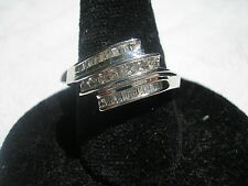 10kt white gold .25 tcw or 1/4 ct DIAMOND RING size 6.5 NEW retail $800.0