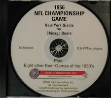 1956 NFL Title Game - Giants vs Bears in COLOR on DVD!