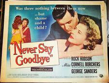 NEVER SAY GOODBYE! '56 ROCK HUDSON RARE ORIGINAL CLASSIC 1/2-SHEET FILM POSTER!