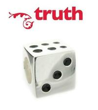 Genuine TRUTH PK 925 sterling silver DICE charm bead, lucky in love, games