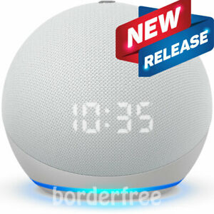 AMAZON Echo Dot (4th Gen) | Smart speaker with clock and Alexa | Glacier White