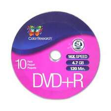 Lot of 8 ( 8 x 10-Pack ) Color Research DVD+R 10-Pack - 16X, 120 mins