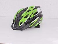 """Fahrrad Helm """"SPARK"""" Jugend – Erwachsene 54-58 cm grün-weiß schwarz  16126"""