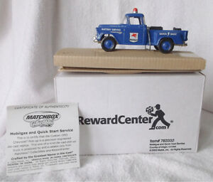2003 Matchbox Reward Center 1:43 Scale Mobil Gas 1955 Chevrolet Pick-Up With Box