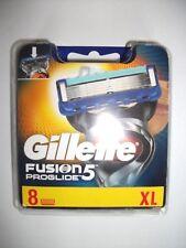 GILLETTE FUSION PROGLIDE5  8 BLADES PACK NEW & SEALED 100% GENUINE FREEPOST