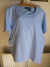 Liz Claiborne 'Lizsport' Blue Short Sleeve Cotton T-Shirt/Top, Medium, LC Logo