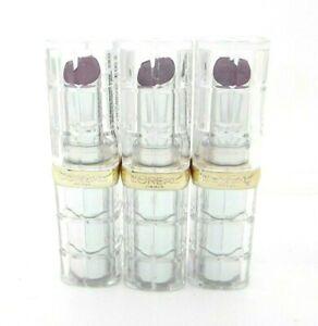 L'oreal Lipstick Wine Colour Riche Shine Glossy #928 Gleaming Plum Lot of 3