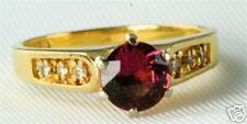 NEW 14K GOLD DIAMOND PINK TOURMALINE RING SIZE 6